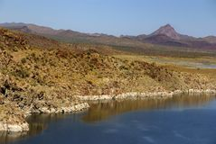 tillstånd för alamo arizona lakepark Arkivbilder