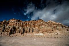 tillstånd för rock för kanjonpark rött Arkivfoton