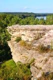 tillstånd för slottparkrock Arkivfoto