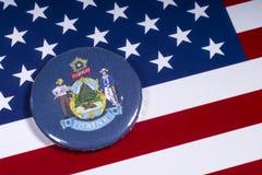 Tillståndet av Maine i USA royaltyfri fotografi