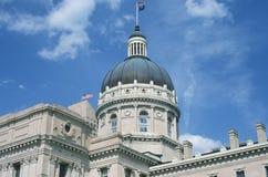 TillståndsCapitol av Indiana Arkivfoto