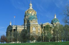 TillståndsCapitol av Iowa Arkivbild