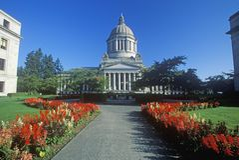 TillståndsCapitol av Washington royaltyfria bilder