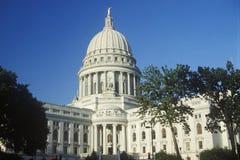 TillståndsCapitol av Wisconsin Arkivfoton