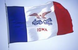 Tillståndsflagga av Iowa arkivbilder