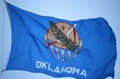Tillståndsflagga av Oklahoma arkivfoton