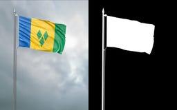 Tillståndsflagga av Saint Vincent och Grenadinerna vektor illustrationer