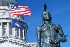 Tillståndsflagga av Utah royaltyfri fotografi