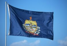 Tillståndsflagga av Vermont Royaltyfria Foton
