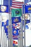 Tillståndsflaggor av Amerika Arkivbilder