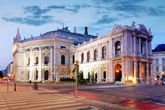 Tillståndsteatern Burgtheater av Wien, Österrike Royaltyfri Fotografi