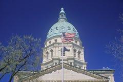 TillståndsCapitol av Kansas Arkivfoton