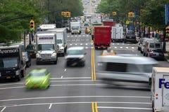 Tilltäppt trafik för NEW YORK - USA 16 JUNI 2015 stad Arkivfoton