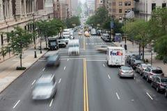 Tilltäppt trafik för NEW YORK - USA 16 JUNI 2015 stad Royaltyfri Bild