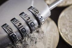 Tillträde för lösenord för kombinationsblocklås för säkerhetskryptering royaltyfri fotografi