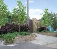 Tillträde som landskap bak staketet, illustration 3d Royaltyfri Foto