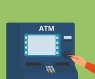 Tillträde till ATM-maskinen Royaltyfria Bilder