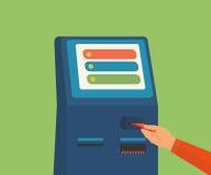 Tillträde till ATM-maskinen Arkivbilder