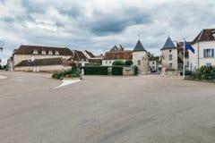 Tillträde till Chablis i Frankrike fotografering för bildbyråer