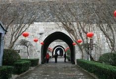 Tillträdeet på den Zhonghua porten, Nanjing Arkivbild