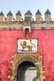 Tillträdesdetalj av den verkliga Alcazarslotten Royaltyfri Fotografi