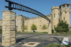 Tillträdesport till det Joliet fängelset royaltyfri bild