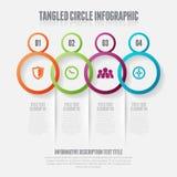 Tilltrasslad cirkel Infographic Arkivbild