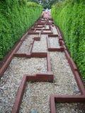 tilltrasslad walkway royaltyfri fotografi