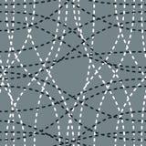 Tilltrasslade curvy linjer sömlös modell, upprepar ändlös baksida royaltyfri illustrationer