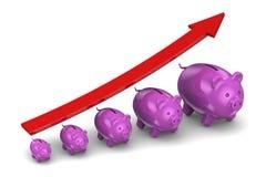 Tillväxt av besparingar Arkivbild