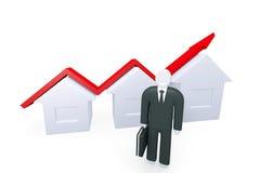 Tillväxt av fastighetförsäljningar Arkivfoto