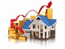 Tillväxt av fastighetmarknaden vektor illustrationer