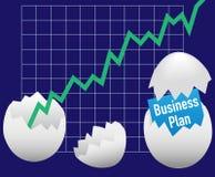 Tillväxt för ägg för lucka för plan för affärsstart Arkivfoto