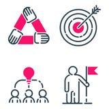 Tillväxt för teamwork för design för utveckling för strategi för affär för symbol för motivationbegreppsdiagram rosa och ledningl stock illustrationer