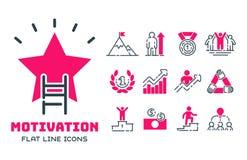 Tillväxt för teamwork för design för utveckling för strategi för affär för symbol för motivationbegreppsdiagram rosa och ledningl Royaltyfria Bilder