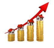 Tillväxt i den Real Estate illustrationen Arkivfoto