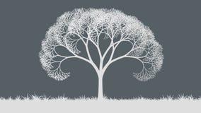 Tillväxtabstrakt begreppväxter i ängen stock illustrationer