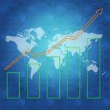 Begrepp för världsekonomi Arkivfoton