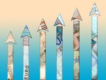 tillväxtpengar vektor illustrationer