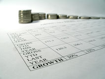 tillväxtpengarrapport Arkivbilder