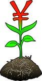 tillväxtsymbolyen royaltyfri illustrationer