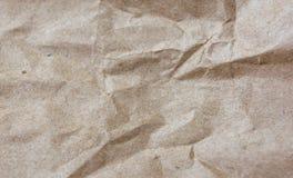 tillverka skrynklig paper textur Rektangulär bakgrund Arkivbild
