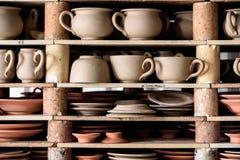 Tillverkad krukmakeri i Portugal arkivbilder
