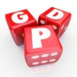 Tillverkade det nationella fabriks- godset för BNP-bruttonationalprodukt 3 vektor illustrationer