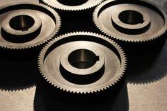 Tillverkade kugghjul för fabrik nyligen Royaltyfria Bilder