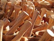 tillverkade träkökutensils Royaltyfria Foton