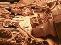 tillverkar trä Royaltyfria Bilder