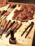 tillverkar trä Fotografering för Bildbyråer