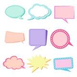 Tillverkare för pastell för textballongfärg till cerat- och aktiefavoriten Royaltyfri Bild