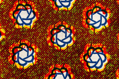 Tillverkat afrikanskt tyg (bomull) Fotografering för Bildbyråer